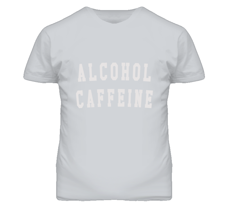 Alcohol Caffeine Drinking Graphic T Shirt
