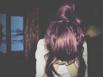 hair dye purple purple hat hat