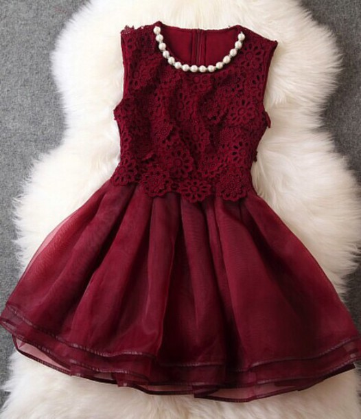red dress lace dress dress christmas gown burgundy classy dress red classic pearl robe de soir?e grenat