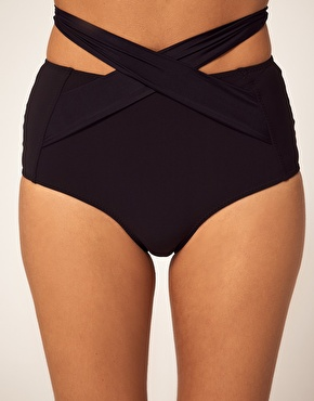 Mouille | Mouille High Waisted Wrap Bikini Bottom at ASOS