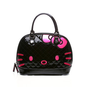 Loungefly Hello Kitty Black Quilted Face Tote Bag Brand New   eBay