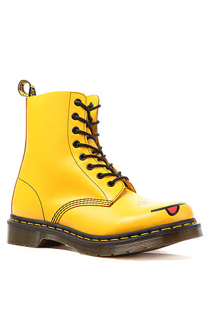 Dr. Martens The Smiley 8Eye Boot in Yellow : Karmaloop.com - Global Concrete Culture