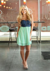 Cowgirl and Chevron Up! GREEN | Sparkly Dresses