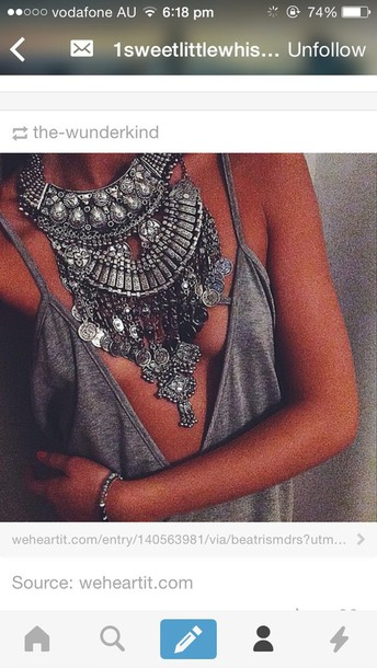jewels coin necklace gypsy necklace boho necklace