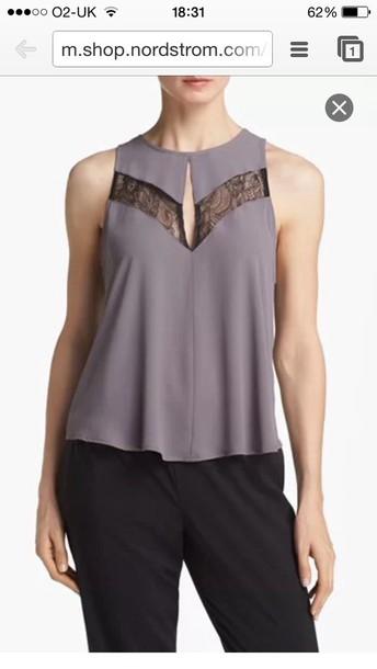 blouse grey modern haley
