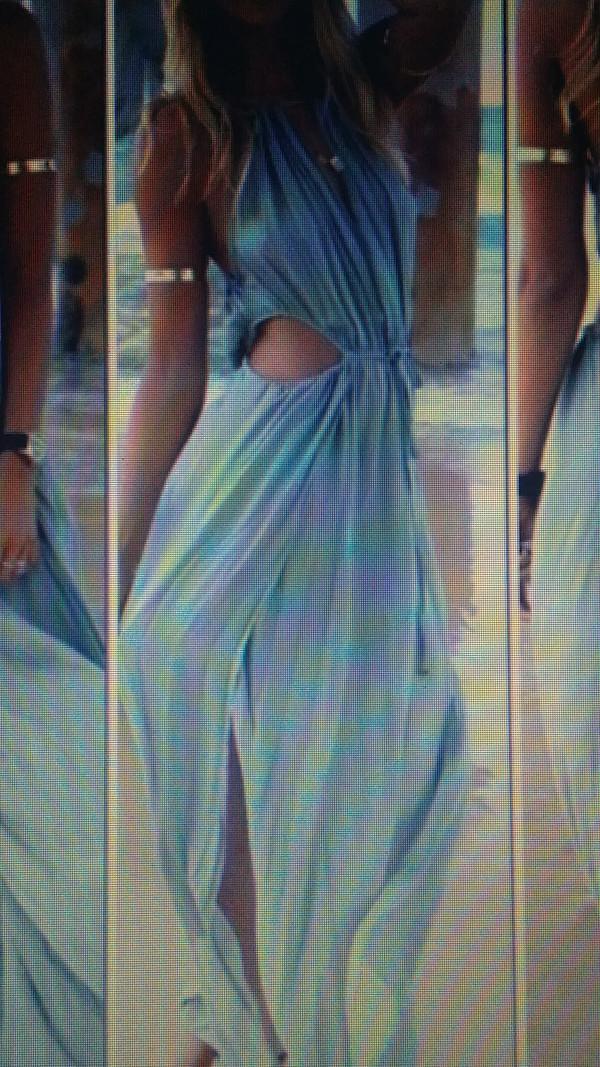 dress blue dress beach dress summer dress cut out maxi dress cover up