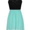 Sabrina turquoise & lace dress – dream closet couture