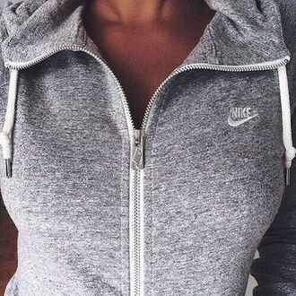 jacket grey sweater nike sweater greynike nike jacket zip up jacket grey workout gray hoddie nike hoddie grey jacket cute fashion nike roshe run white zip-up love tumblr sweatshirt