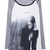 Thoughtful Girl Pattern Print T-shirt [FCBI00498] - PersunMall.com
