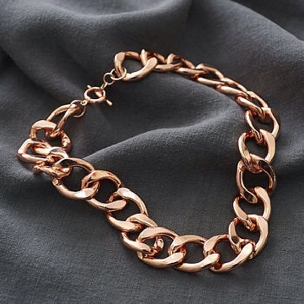 jewels rose gold chunky chain