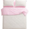 Athens grid lines in baby pink cover set – sleepy bum