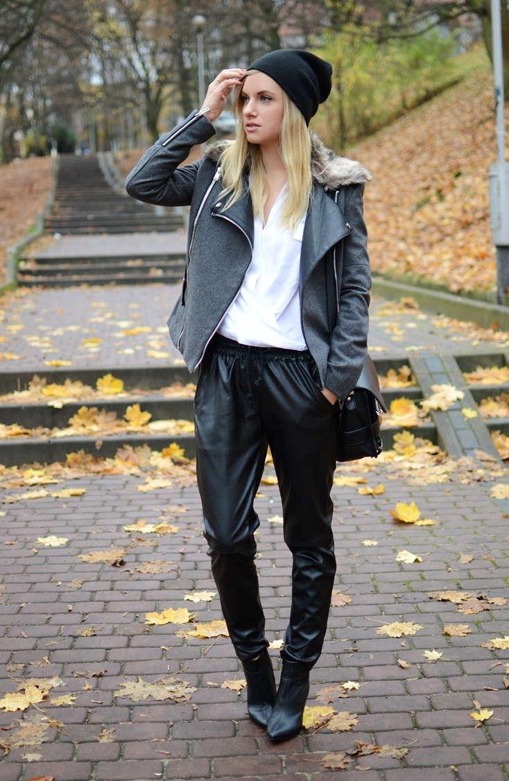 Kirin Leather Pants With Draw Cord | Choies