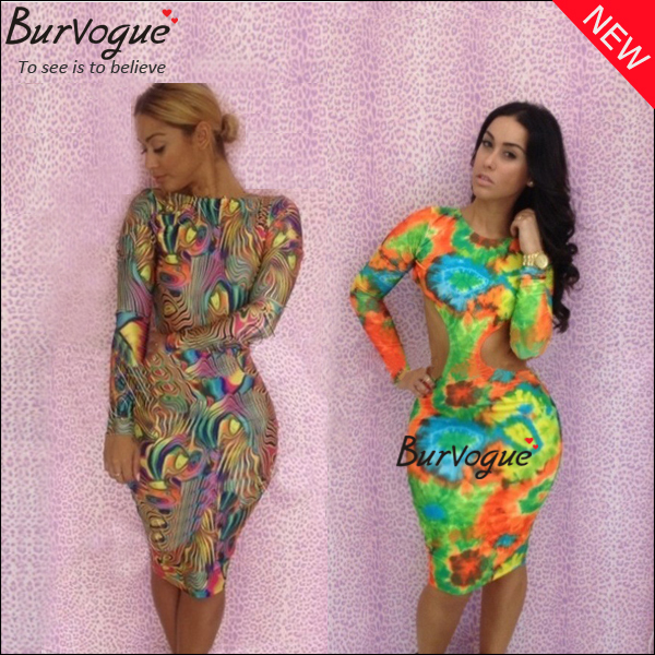 2014 Free Shipping Sexy Women Bandage Party Dresses Summer Colorful Evening Wear Dresses Night Club Long sleeve Bodycon Dress-in Apparel & Accessories on Aliexpress.com
