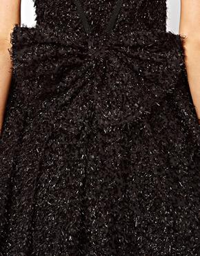 French Connection | French Connection Glitter Whisper Dress with Bow Back at ASOS