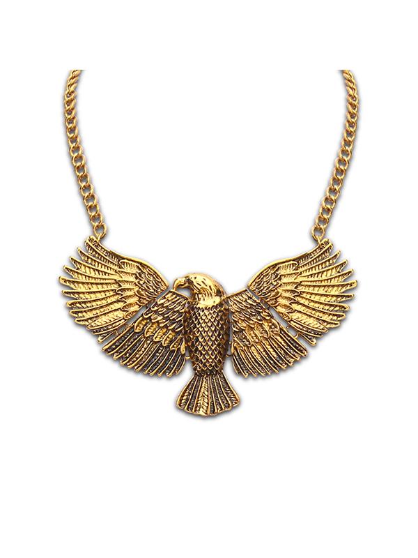 Retro Eagle Alloy Chain Necklace : KissChic.com