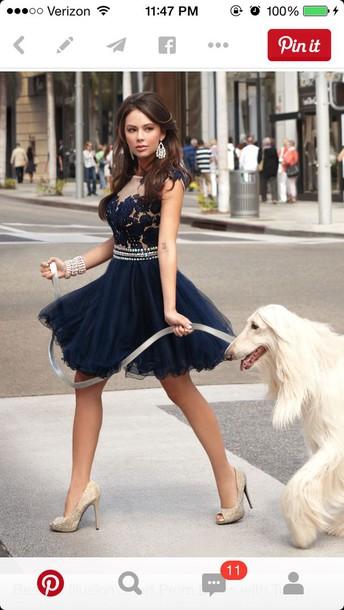 dress short navy blue dress with sequins