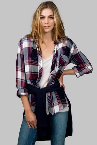 Rails Hunter Shirt - Wine/White                             Shop-Kate