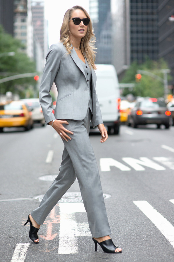 the classy cubicle jacket pants shoes