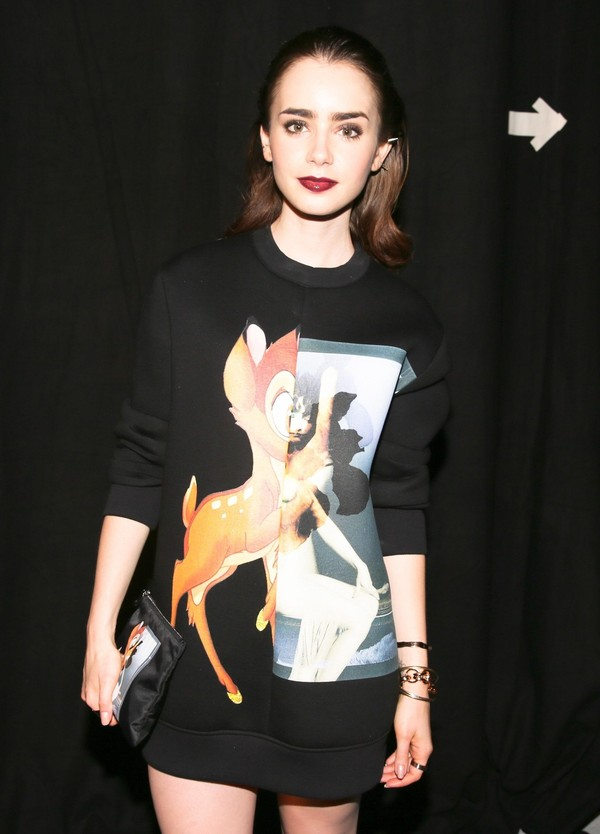 blouse lily collins bambi givenchy