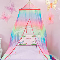 Rainbow Tie-dye Bed Canopy- Lillian Vernon