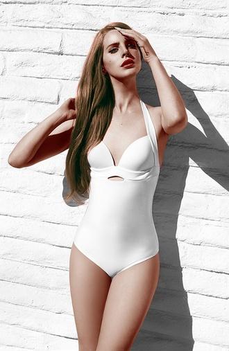 swimwear bikini lana del rey white swimwear cute