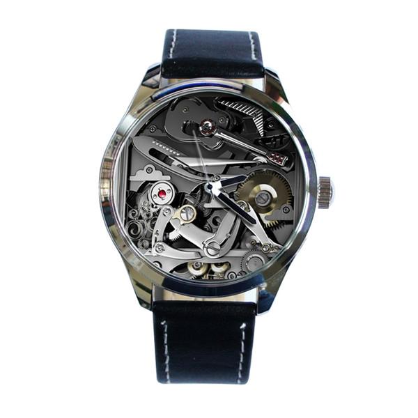 jewels mechanic metal grey watch watch ziz watch ziziztime