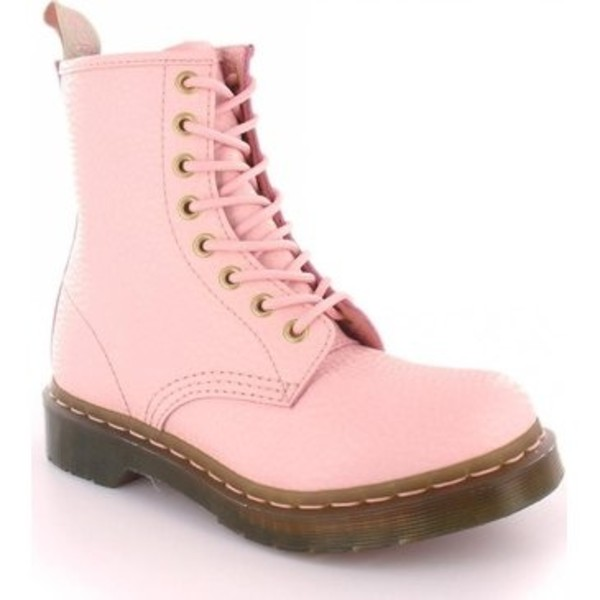shoes DrMartens pastel pink boots