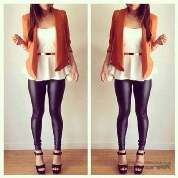 pants t-shirt shoes belt jacket