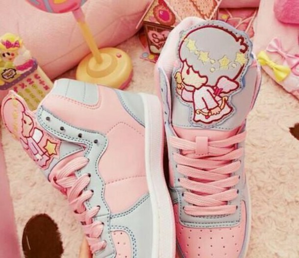 shoes angel pink pastel pink pastel cute kawaii