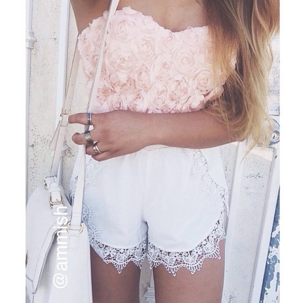 lace shorts top shorts
