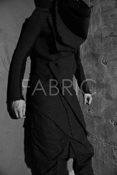coat rick owens blvck mens jacket black