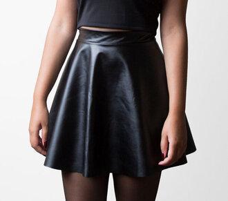 skirt leather leather skirt pleather vinyl pvc pvc skirt 90s style 1990s faux leather vinyl skirt