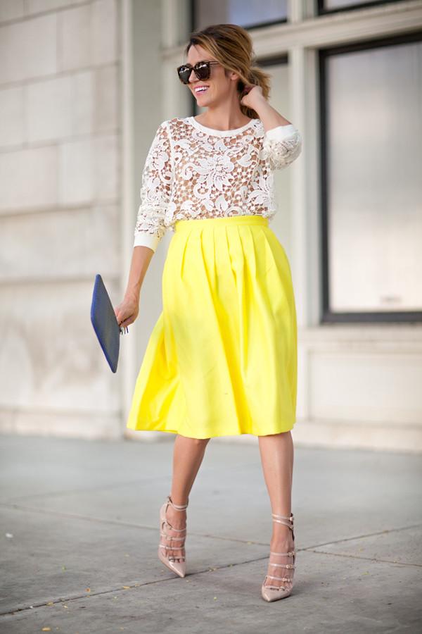 hello fashion top skirt shoes sunglasses bag