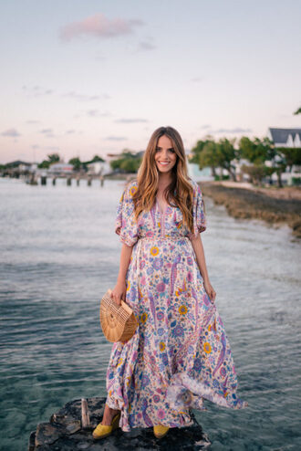 gal meets glam blogger dress shoes bag long dress floral maxi dress maxi dress wedges