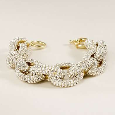 Crystal pave Link Bracelet