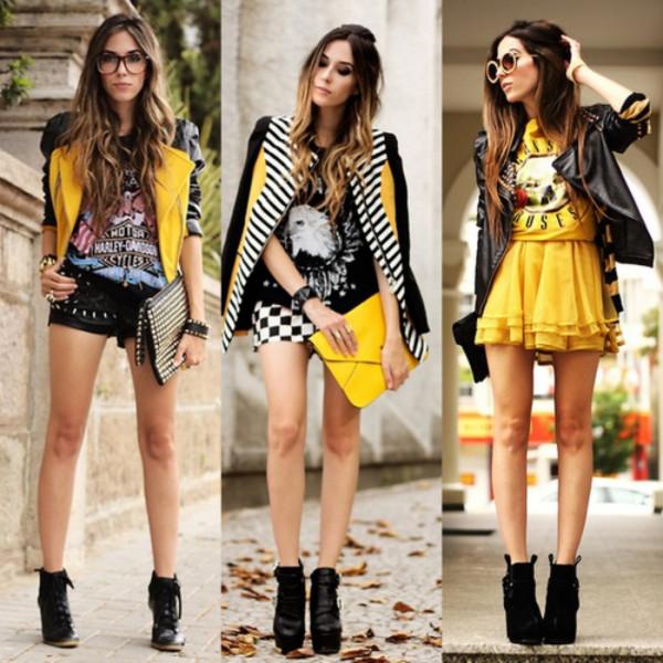 fashion coolture jacket shorts t-shirt skirt