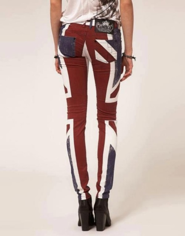jeans red blue white