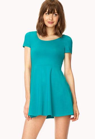 Short Sleeve Skater Dress | FOREVER 21 - 2041439987