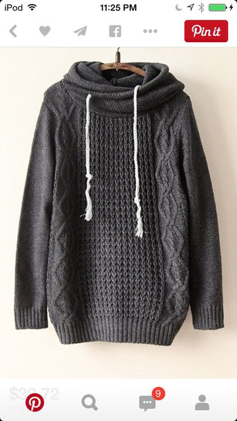 jacket grey knitted sweater