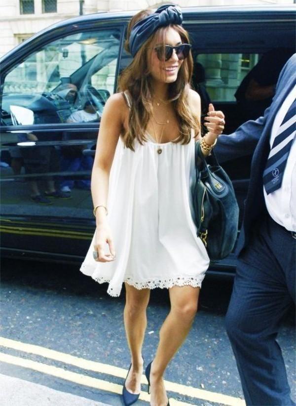 dress vanessa hudgens white dress sunglasses hat jewels