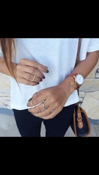 jewels bracelets brown watch