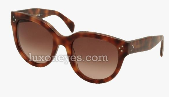 Celine Cl 41755/s Audrey Sunglasses - Havana/brown Shaded (55/22/145)