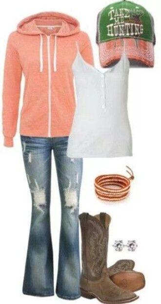 coral sweater zip