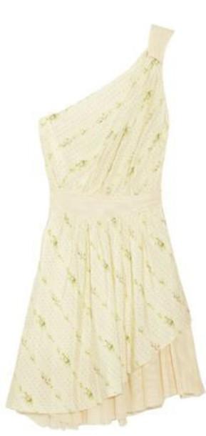 dress one shoulder off-white