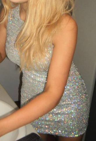 dress sequins silver multi