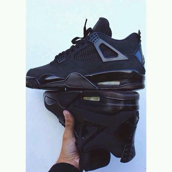 shoes sneakers air jordan black