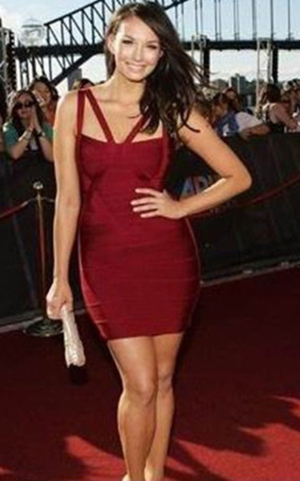 dress bandage dress red bandage dress sexy dress celebrity style