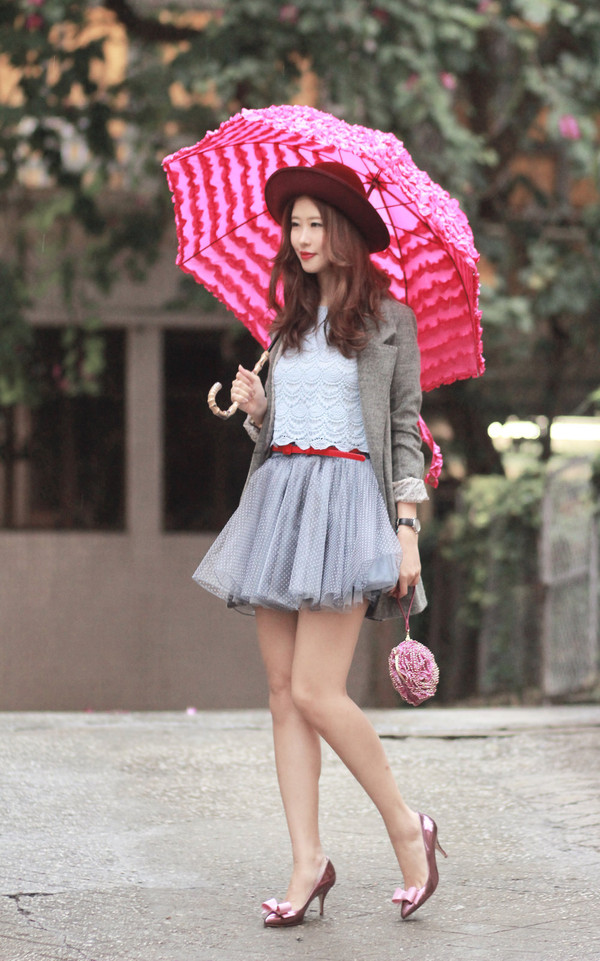 mellow mayo jacket t-shirt belt skirt bag shoes