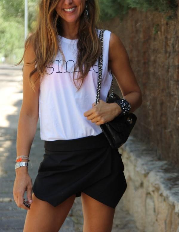 shorts clothes skirt skorts asymmetrical hemline shirt t-shirt