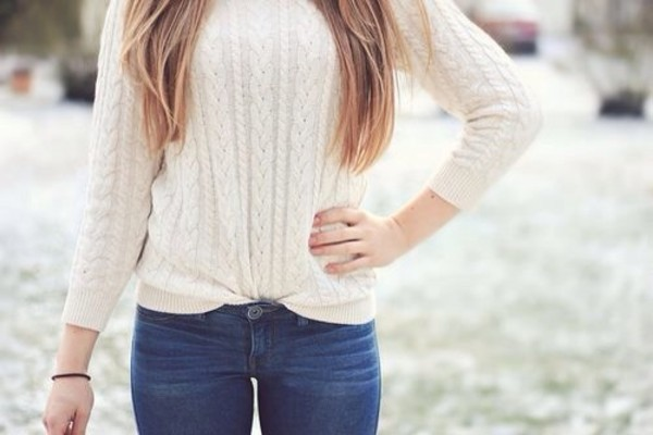 sweater white winter sweater winter outfits snow